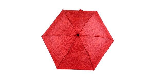 Dámsky červeno-vínový dáždnik s potlačou Ferré Milano
