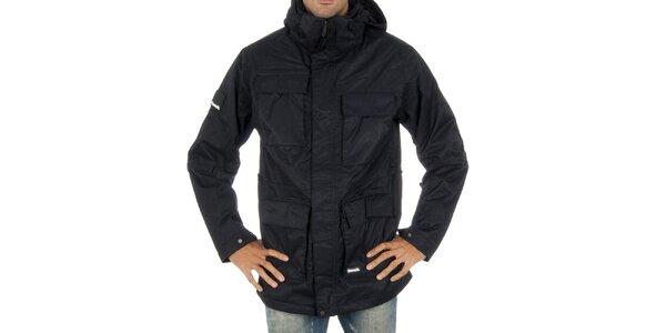 Pánska čierna snowboardová bunda s prúžkom Bench
