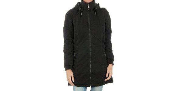 Dámsky čierny kabát Bench na zips