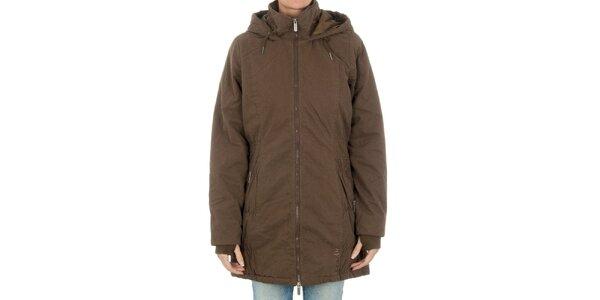 Dámsky hnedý kabát Bench na zips
