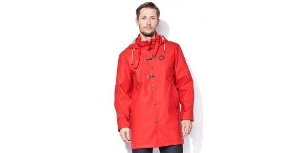 Žiarivo červená pláštenka s podšívkou Thjorsa