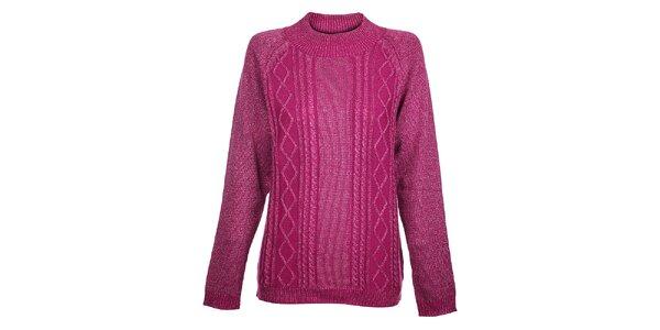 Dámsky ružový sveter Hope s metalickým leskom