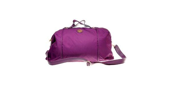 Dámska fialová kabelka Hope so zlatými detailami