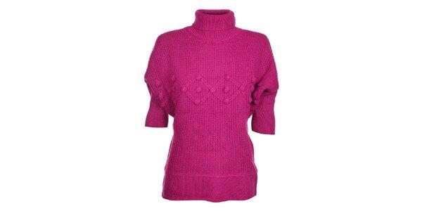 Dámsky sýto ružový sveter Hope s rolákom