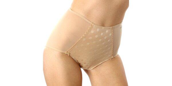 Dámske telové vysoké nohavičky s bodkami DKNY