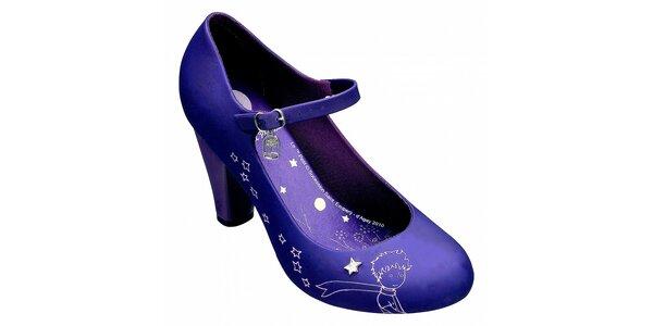Dámske fialové lodičky Melissa s Malým princom