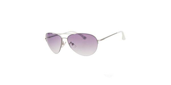 Pánske striebornobiele slnečné okuliare Michael Kors