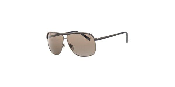 2e4b8f952 Pánske šedé slnečné okuliare s kovovými obrubami Michael Kors