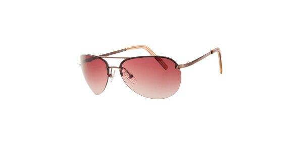 Dámske zlatisté slnečné okuliare Michael Kors