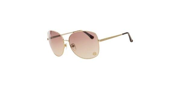 Dámske zlaté slnečné okuliare Michael Kors