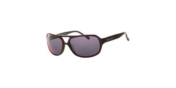 Pánske tmavo červené slnečné okuliare Michael Kors