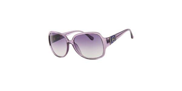 Dámske fialové transparentné slnečné okuliare Michael Kors