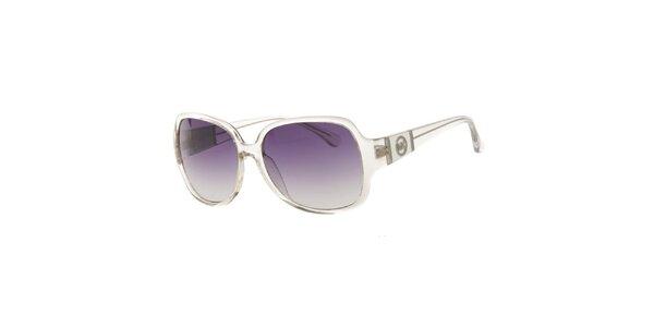 Dámske transparentné slnečné okuliare Michael Kors s fialovými sklíčkami