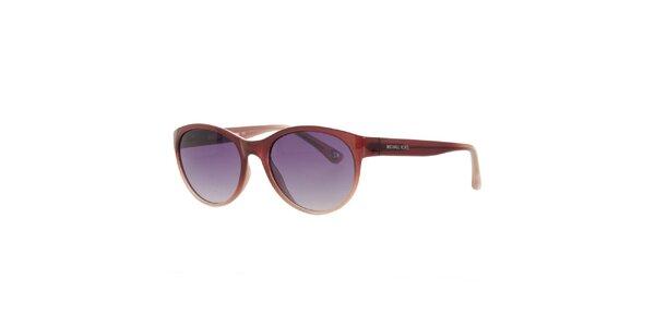 Dámske hnedé slnečné okuliare Michael Kors s fialovými sklíčkami