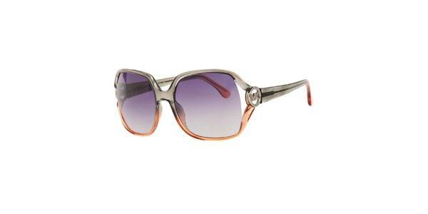 Dámske dvojfarebné slnečné okuliare Michael Kors s fialovými sklíčkami