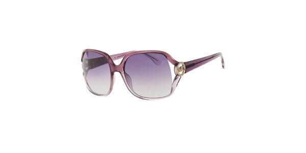 Dámske duhové fialkové okuliare Michael Kors s transparentnými obrubami