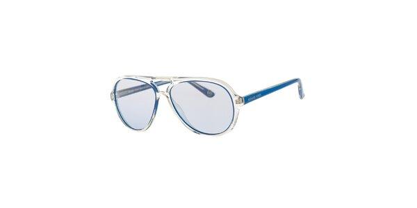 Pánske modro-transparentné slnečné okuliare Michael Kors