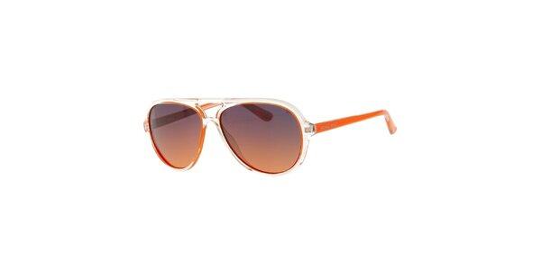 Pánske oranžovo-transparentné slnečné okuliare Michael Kors