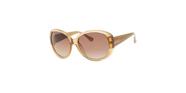 Dámske zlato-žlté slnečné okuliare Michael Kors