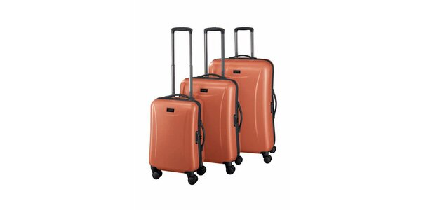 Sada troch oranžových kuforov Esprit
