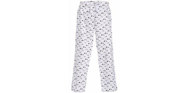 Dámske dlhé pyžamové nohavice s potlačou psíkov MaybeBlu