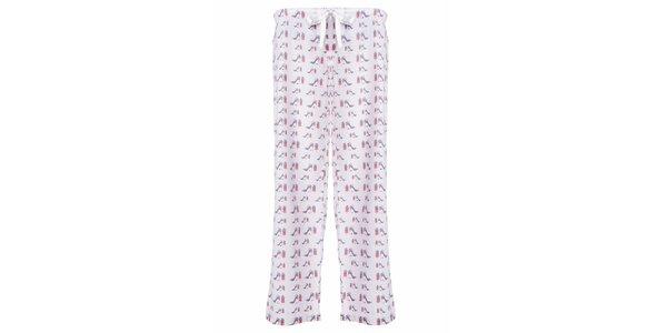 Dámske dlhé pyžamové nohavice s potlačou lodičiek MaybeBlu
