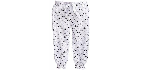 Dámske 3/4 pyžamové nohavice s potlačou psíkov MaybeBlu