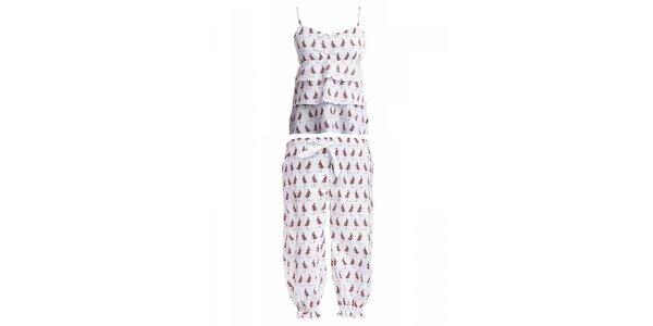 Dámsky set košielky a 3/4 pyžamových nohavíc s potlačou dievčaťa MaybeBlu