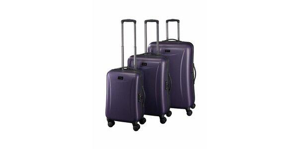 Sada troch fialových kuforov Esprit