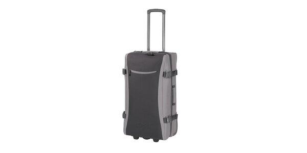 Šedá cestovná taška na kolieskach Esprit