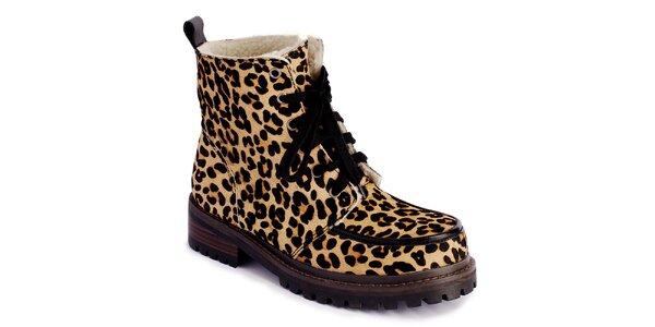 Dámske šnurovacie topánky s leopardím vzorom Lola Ramona
