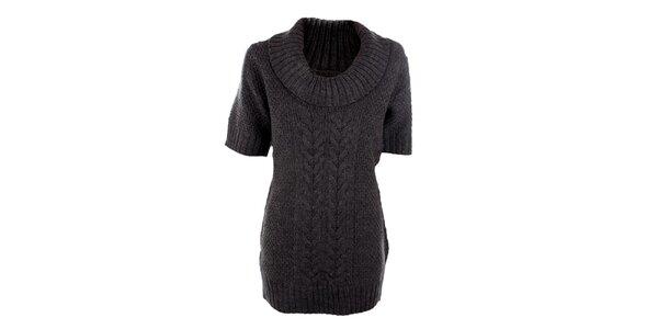Dámsky šedý sveter s prímesou vlny Emoi