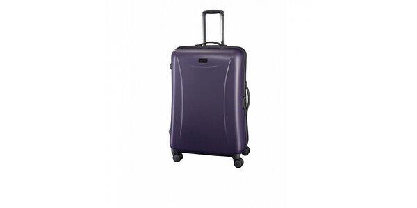Veľký fialový šedý kufor Esprit