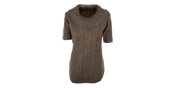 Dámsky hnedo-béžový sveter s prímesou vlny Emoi