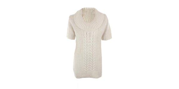 Dámsky biely sveter s prímesou vlny Emoi