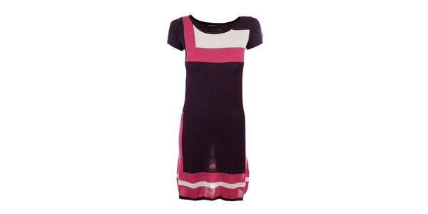 Dámske fialovo-ružové úpletové šaty Emoi