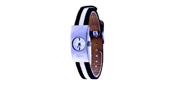 Dámske hodinky Lacoste s čierno-bielym remienkom