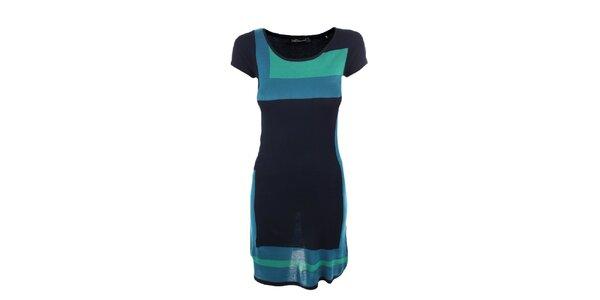 Dámske tyrkysovo-zelené úpletové šaty Emoi