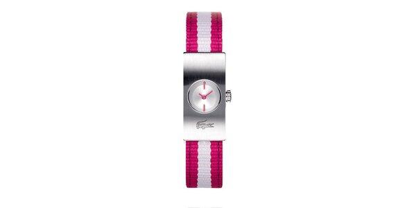 Dámske hodinky Lacoste s ružovo-bielym remienkom
