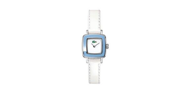 Dámske bielo-modré hodinky Lacoste