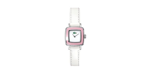 Dámske bielo-růžové hodinky Lacoste