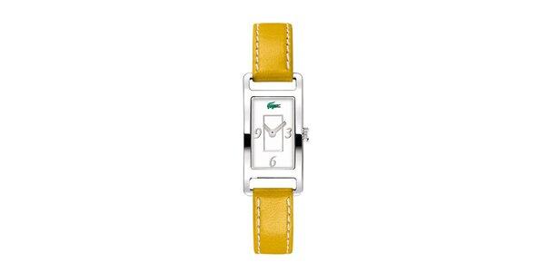 Dámske hodinky Lacoste so žltým remienkom