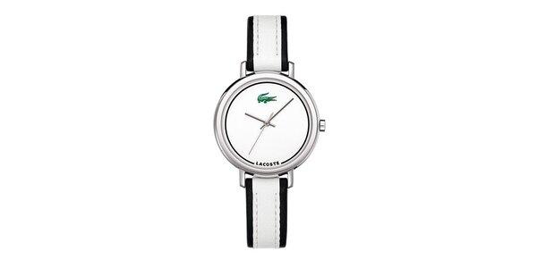Dámske hodinky Lacoste s čiernobielym remienkom