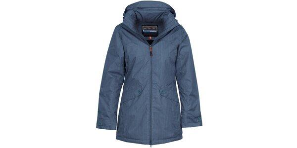 Dámsky denimovo modrý nepremokavý kabát Bergson