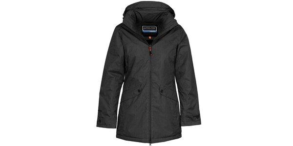 Dámsky čierny nepremokavý kabát Bergson