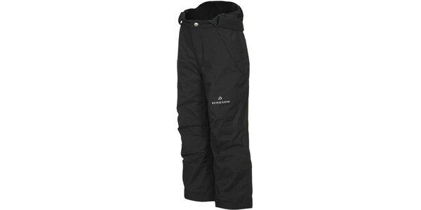 Detské čierne lyžiarske nohavice Bergson