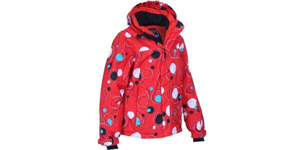 Detská červená bunda s bublinami Bergson