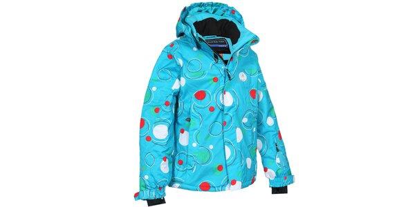 Detská tyrkysová bunda s bublinami Bergson