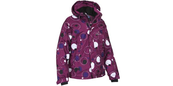 Detská fialová bunda s bublinami Bergson