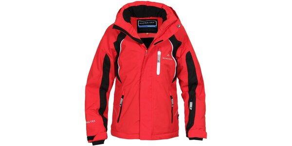 Detská červeno-čierna lyžiarska bunda Bergson